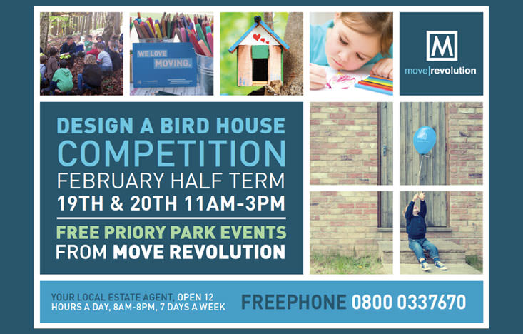 Half term competition: design a birdhouse at priory park