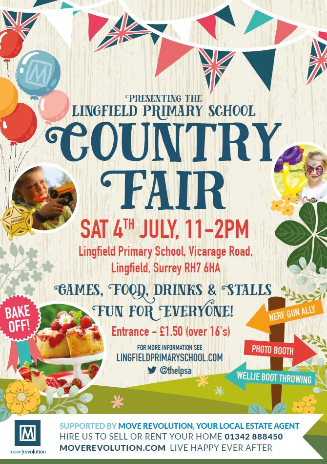 lingfieldb country fair poster