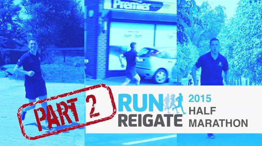 Run Reigate Half Marathon, Full Route for 2015