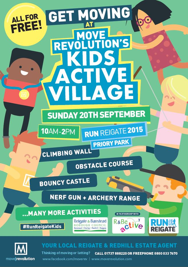 Free day out for your kids during Run Reigate 2015