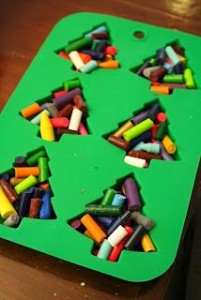 14. Christmas Tree Crayons