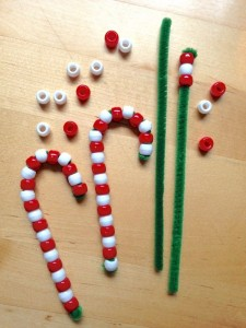 5. Beady Candy Canes
