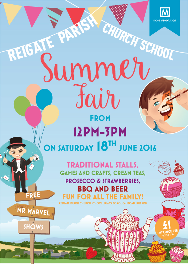 Move Revolution Sponsors Reigate Parish Church School Summer Fair
