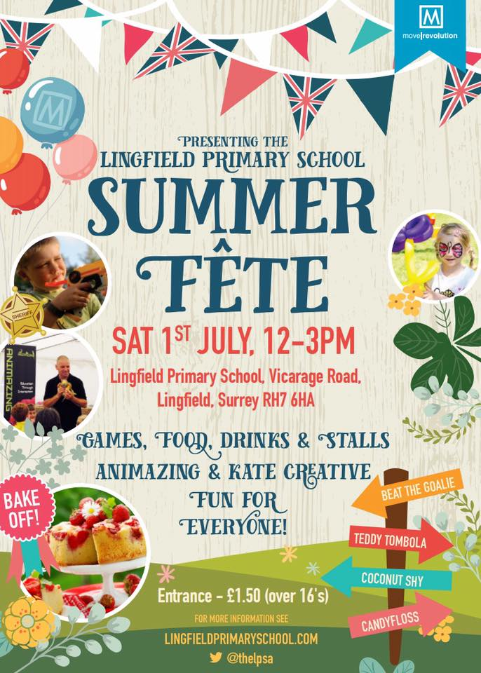 Lingfield Primary School's Summer Fete, Sponsored by Move Revolution