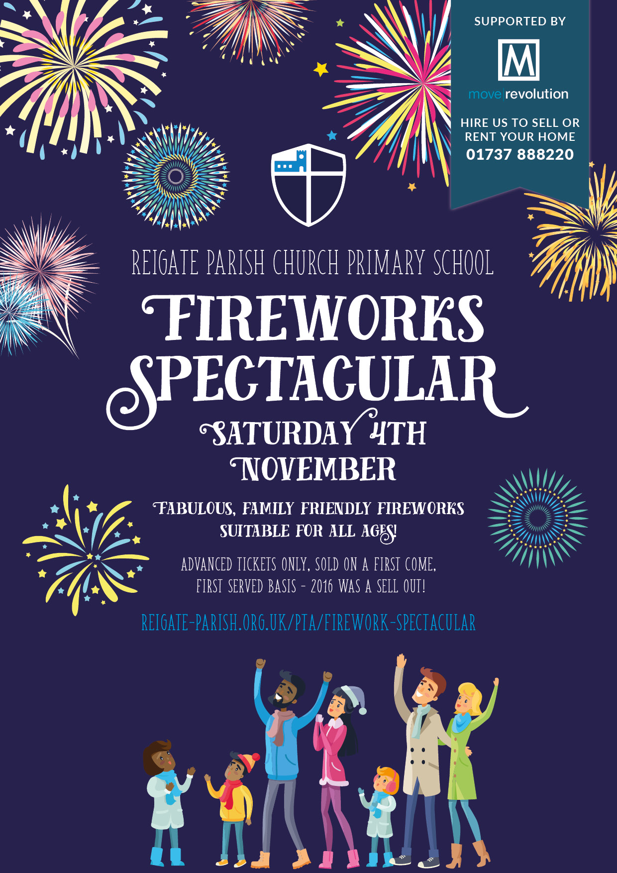 family fireworks in reigate - move revolution