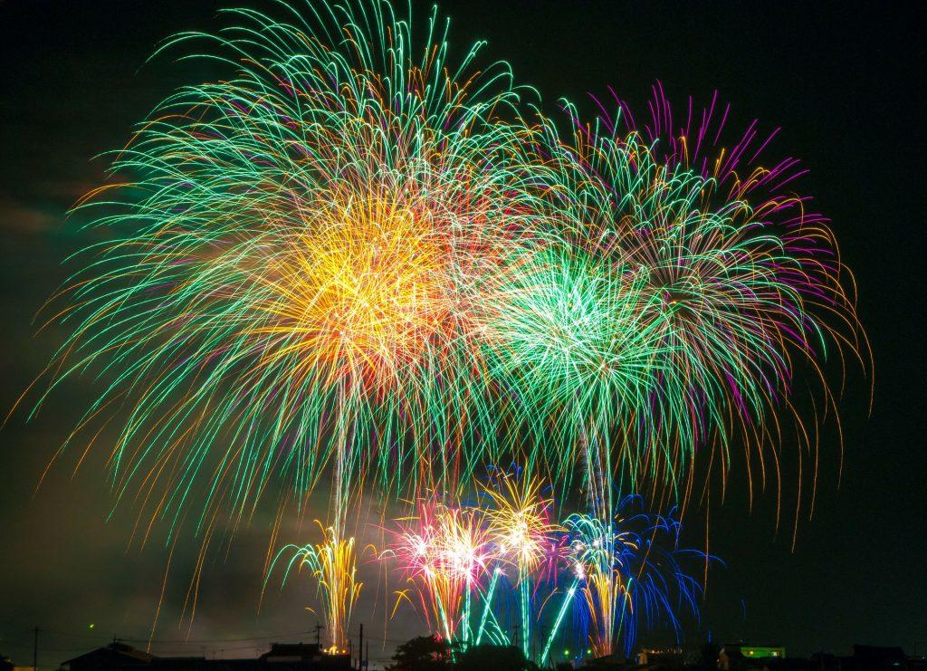 Family firework displays