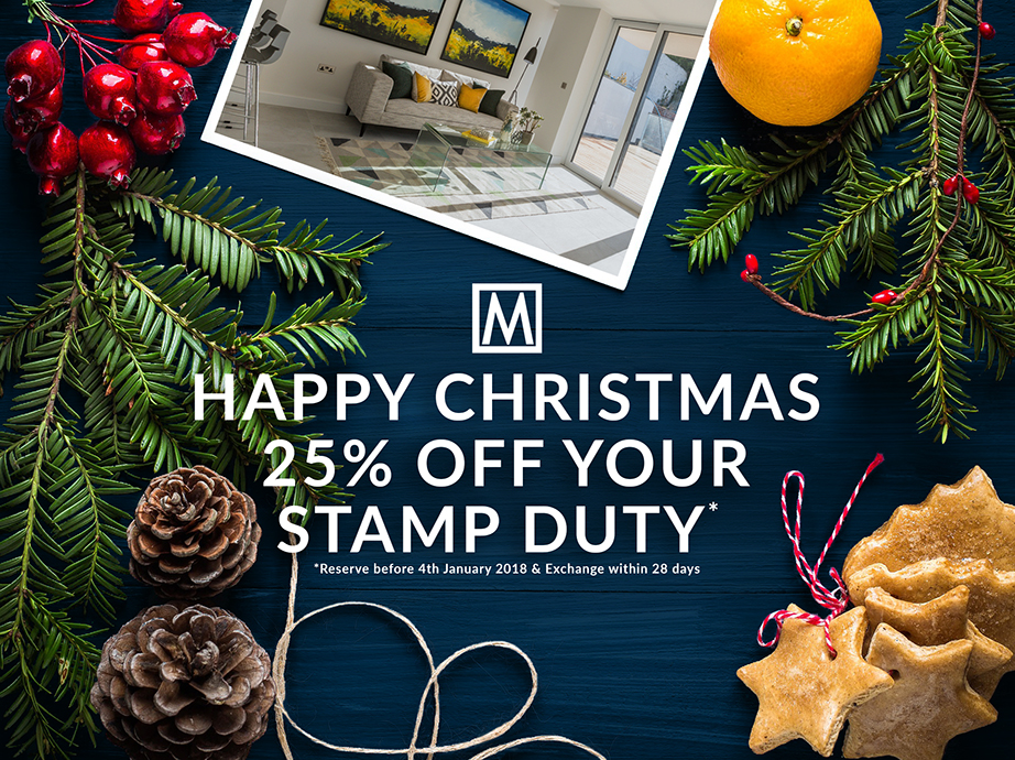 An early Christmas present! 25% off Stamp Duty!