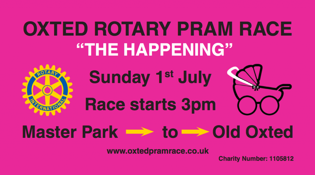 Oxted Pram Race 2018 – Join in the fun
